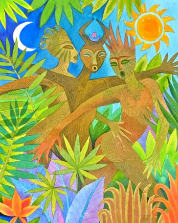 Three Jungle Spirits
