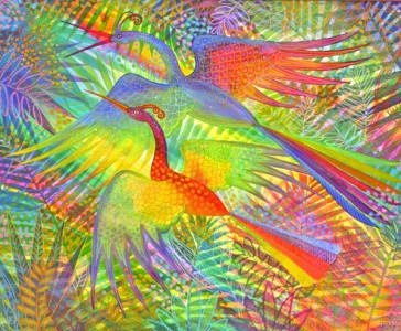 Flight of colour and bliss