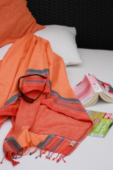 Softkikoy-Strandtuch Orange-Rot