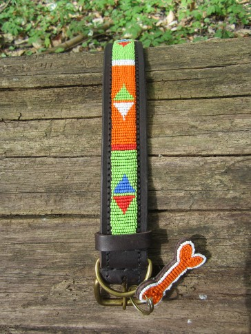 Orange-Limette afrikanisches Hundehalsband