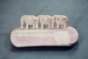 Elefanten-Schale aus Speckstein