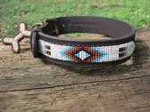 Hundehalsband Leder indianisch/afrikanisch