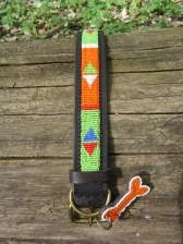 Orange-Limette afrikanisches Hundehalsband