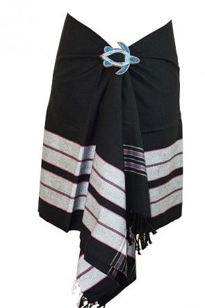 Soft-Tuch oder Schal in Schwarz
