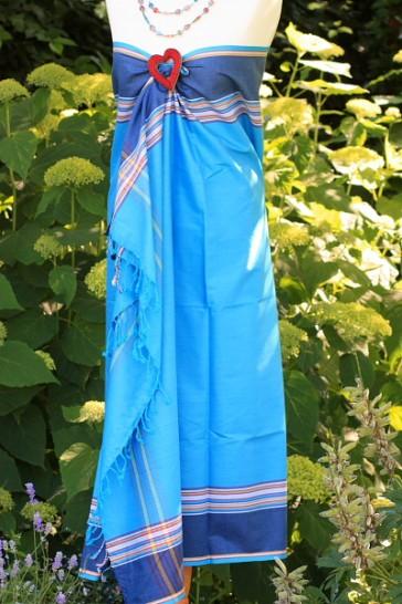 Shalima-Softkikoy in der Farbe Ocean-Blue mit Dunkelblau