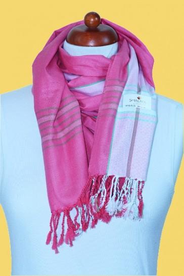 Traumschal in Pink-Rosé