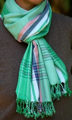 Softkikoy Emeraldgrün mit Pink und Weiß