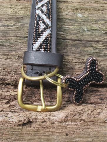 Afrikanisches Halsband Schwarz-Weiß