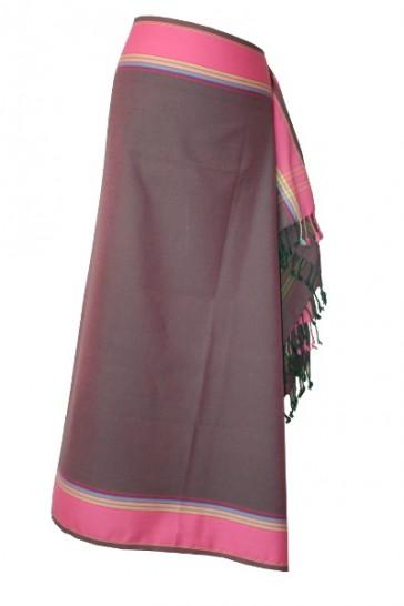 Afrikanischer Kikoy Marone-Pink