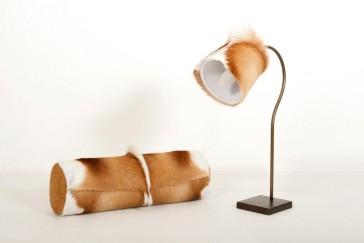 Nackenrolle und Lampenschirm aus Springbock
