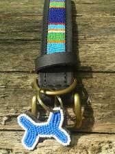 Blau gestreiftes afrikanisches Halsband
