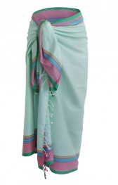 Kikoy Soft-Lightgreen-Pink