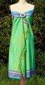 Kikoy als Kleid in Apfelgrün und Lila